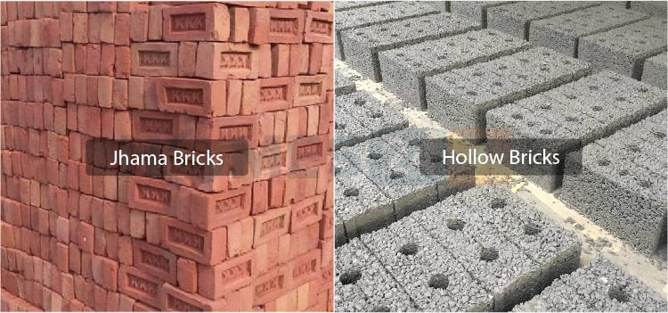 different types of bricks used for construction