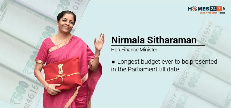 Nirmala Sitharaman Hon Finance Minister