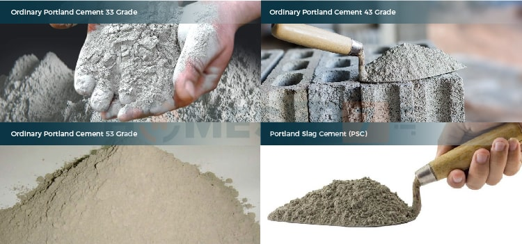 Types of Cement available in India