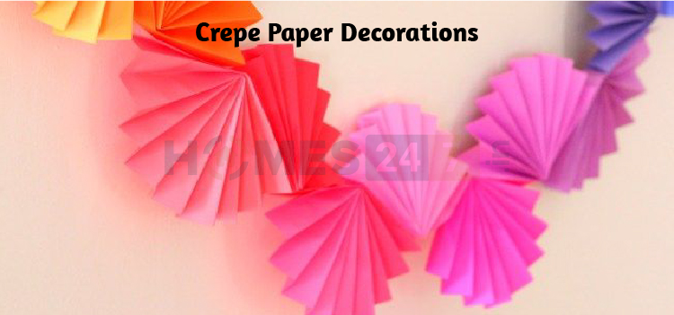 crepe paper decoration