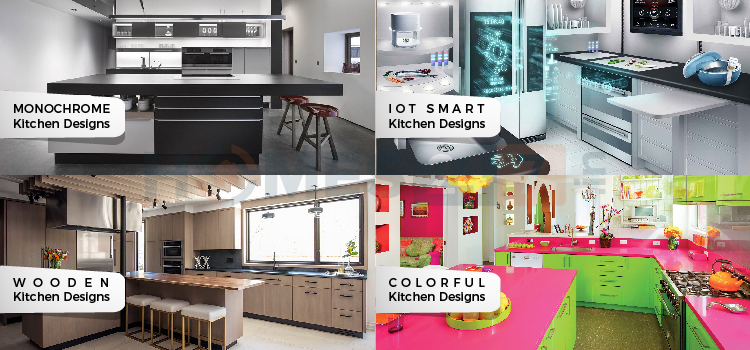 different types of modular kitchen