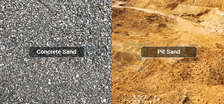 types of construction sand