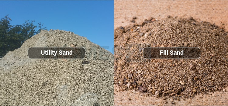 Types of sand used in building construction