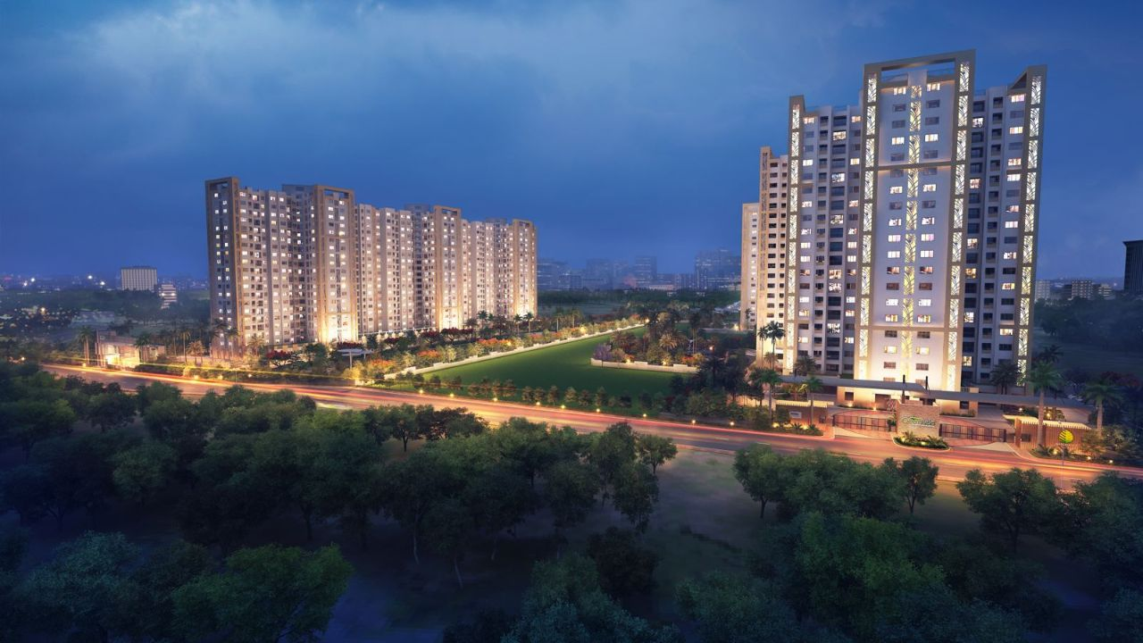 Shriram-Greenfield-Night-View